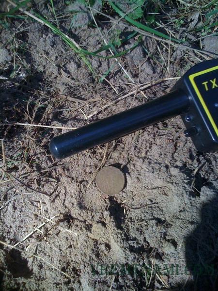 первая монета моего пинпоинтера