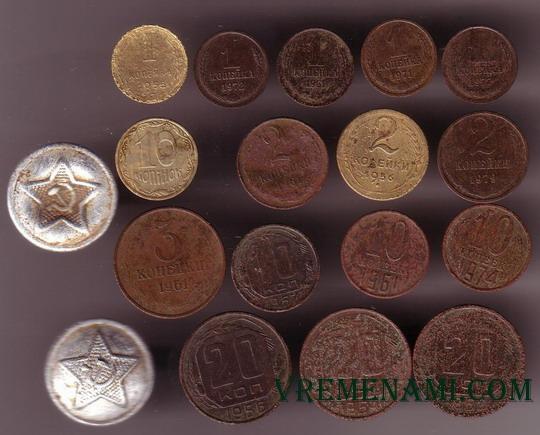 находки монет металлоисктелем