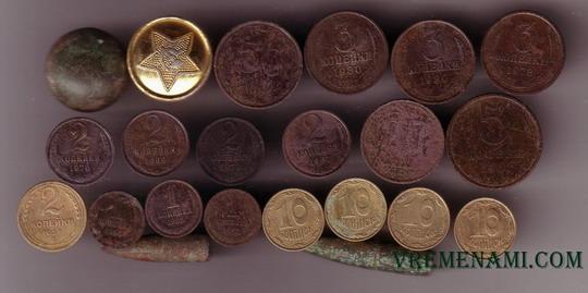 найденные монеты металлоискателем летом