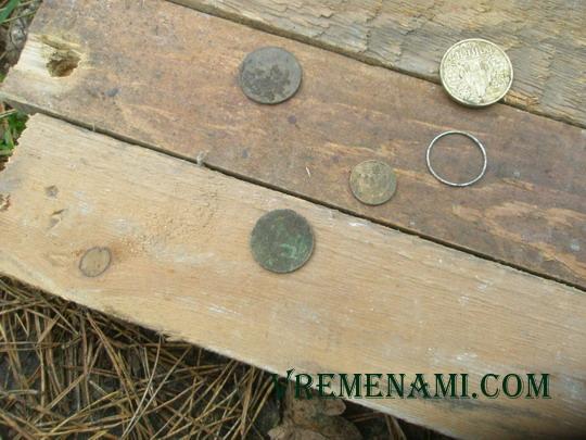 найденные монеты на соревновании