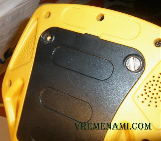 задняя панель металлоискателя