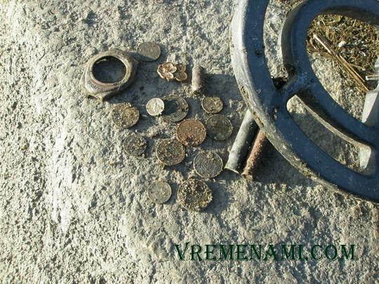 находки монет металлоискателем АСЕ250