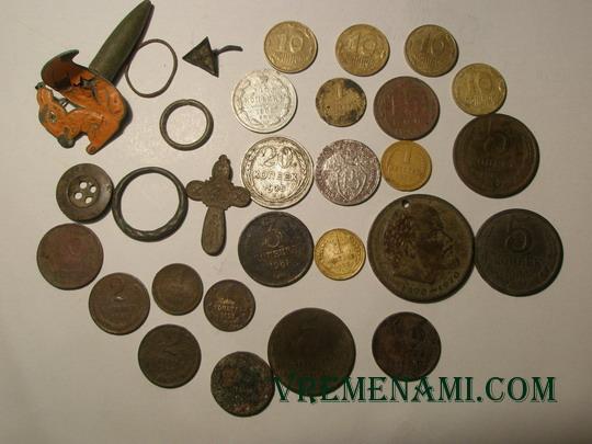 находки монет металлоискателем на огородах