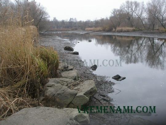русло спущенной реки
