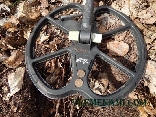 две 1 коп найденные новым металлоискателем MX300