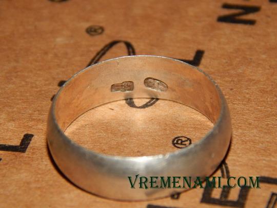 большое старое серебряное кольцо