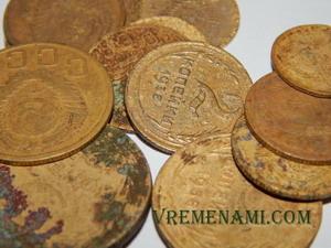 советские копейки из алюминиевой бронзы
