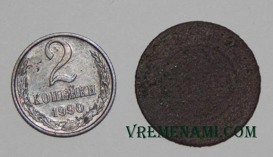 найденные с металлоискателем две монеты в Черкасской области