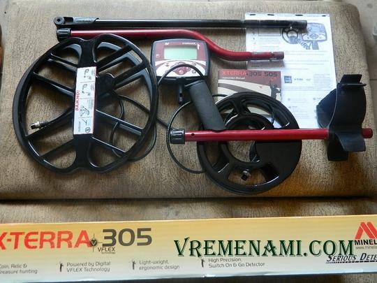 комплект кладоискателя на базе металлоискателя Минелаб Х-Терра 305