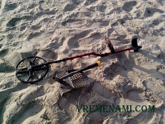 моя копательская техника для поиска монет по пляжу