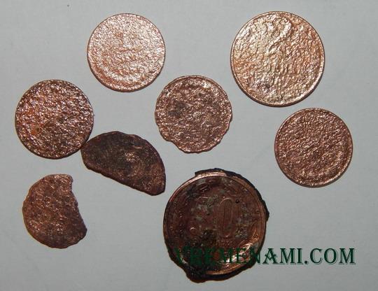 не подлежащие повторной чистке монеты