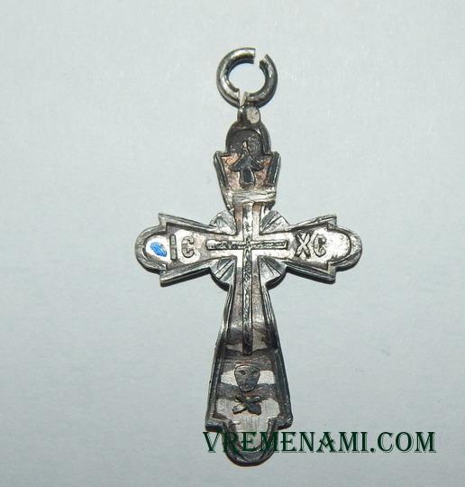 старый серебряный крестик 30х19 мм
