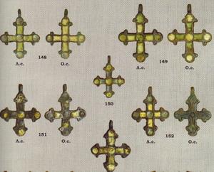 крестики с желтой эмалью