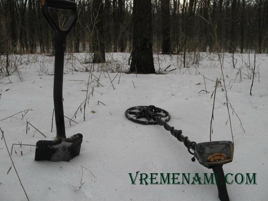 поиск зимой металлоискателем