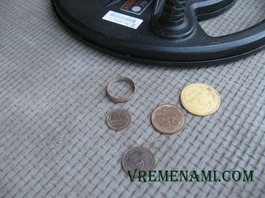 находки монет металлоискателем Минелаб Х-Терра305