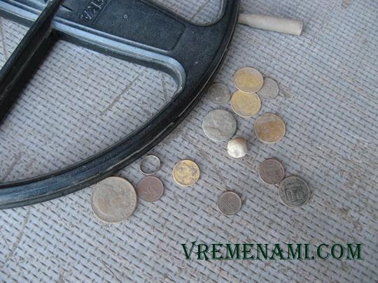 находки монет металлоискателем АКА Сорекс