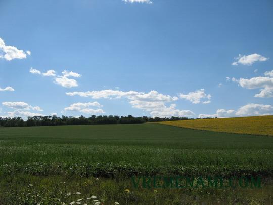 украинские поля - еще не сезон