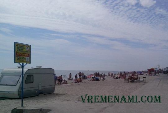 пляж Затоки в сентябре
