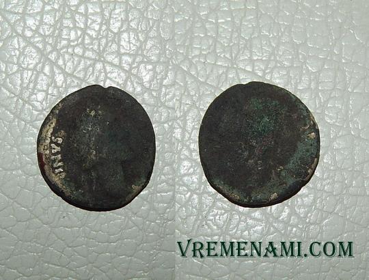 монета из земли